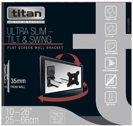 Uchwyt Vivanco A2615 30656 Ultra Slim - Uchwyty ścienne TV