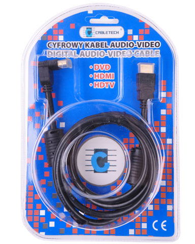 Kabel HDMI-HDMI 1.8M Kątowo-prosty - Kable HDMI - HDMI