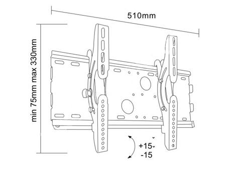 Uchwyt LC-U2R 37S - Uchwyty ścienne TV