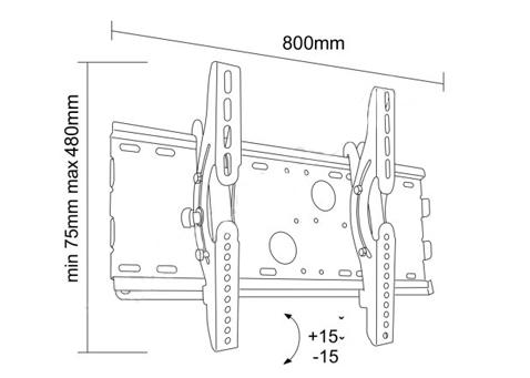 Uchwyt LC-U2R 63S - Uchwyty ścienne TV