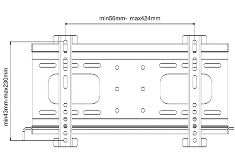 Uchwyt LC-U3S 37C - Uchwyty ścienne TV