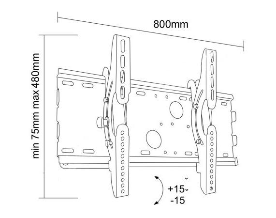 Uchwyt LC-U4R1 63C - Uchwyty ścienne TV