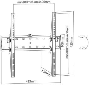LC-U5R 55C - Uniwersalny uchwyt ścienny - Uchwyty ścienne TV