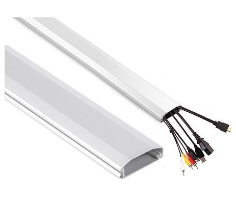 Listwa maskująca do kabli aluminiowa 60x20x750 mm - Listwy maskujące