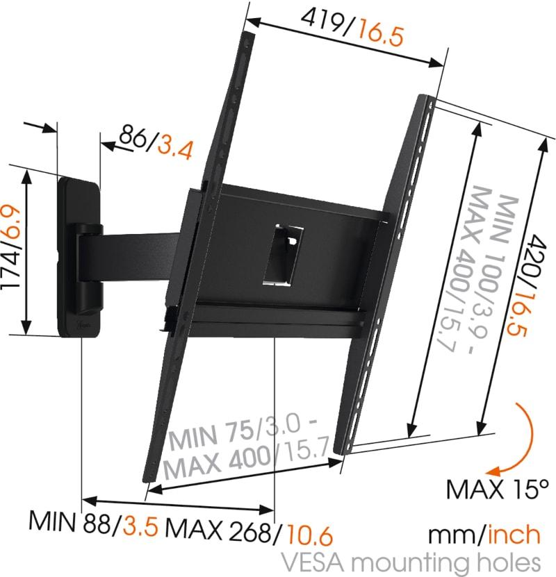 MA3030 - Ścienny uchwyt do telewizora LCD / LED / plazma - Uchwyty ścienne TV