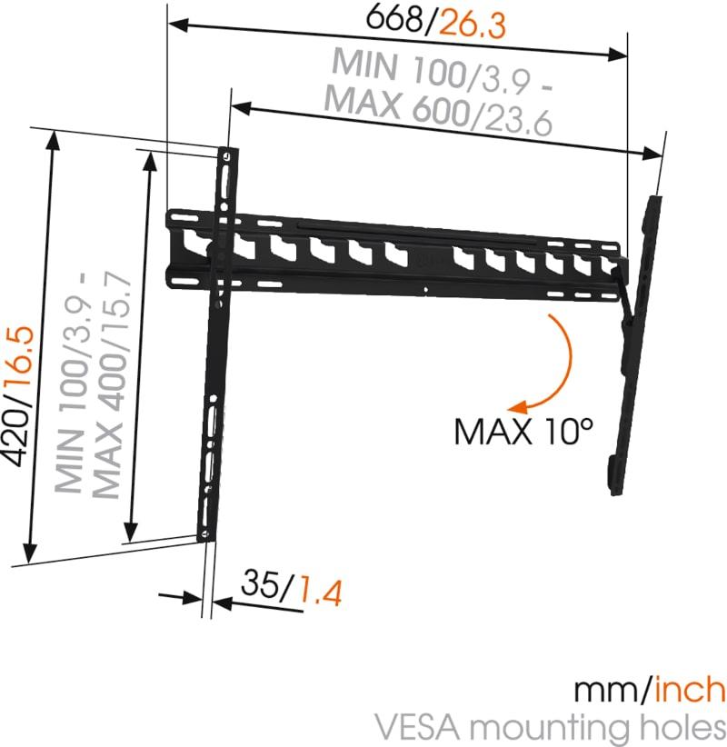 MA4010 - Uchwyt do telewizorów 40 - 65 cali - Uchwyty ścienne TV