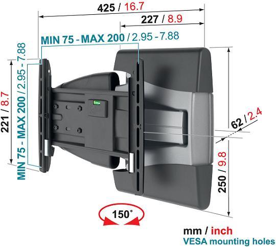 Uchwyt Vogels EFW8145 - Uchwyty ścienne TV