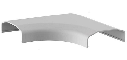 Listwa maskująca narożna biała 127x127x21,5 mm - Listwy maskujące