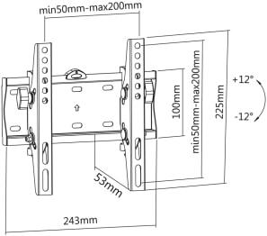 Uchwyt LC-U5R 42C - Uchwyty ścienne TV