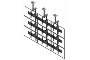 LCC3357-L - Uchwyt sufitowy 3x3 do ściany wizyjnej 50